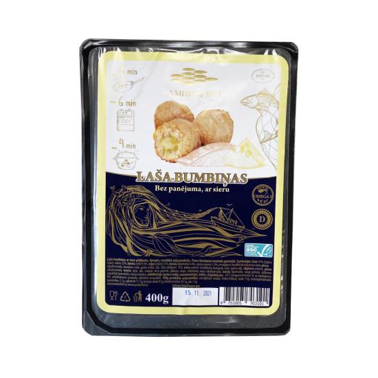 Laša bumbiņas ar sieru, apceptas, saldētas 400g