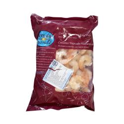 Tīģergarneles sagatavotas tīrītas ar asti 26/30 glazūra 20% saldētas